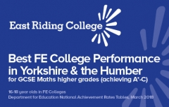 East Riding College students hit the top spots in maths, English and Apprenticeships