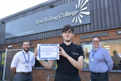 College student receives scholarship fund in memory of Driffield carpenter